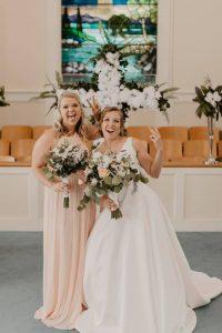 AnnaTaylor and bridesmaid