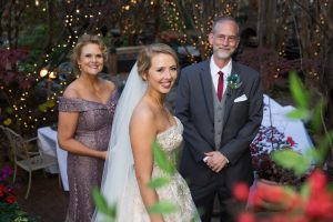 Bride with Mother and father