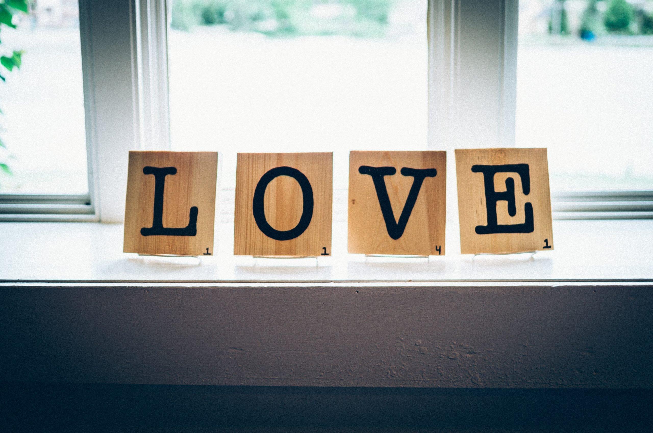 Love Tiles in the window